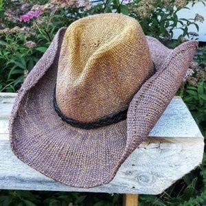 Hatta Girl Ombre Straw Boho Rustic Festival Hat
